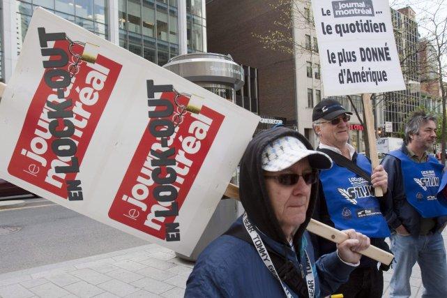 Les employés du Journal de Montréal sont en... (PHOTO: RYAN REMIORZ, ARCHIVES PC)