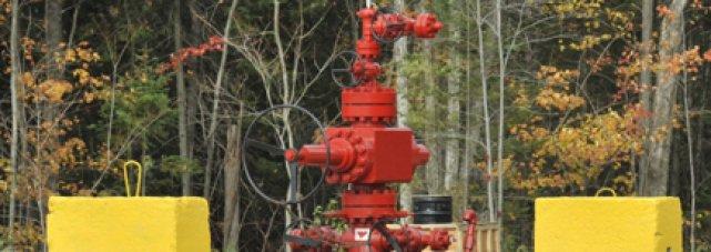 Il y avait un grave problème avec le puits de gaz de schiste de Talisman à... (Photo: Steve Deschênes, Le Soleil)