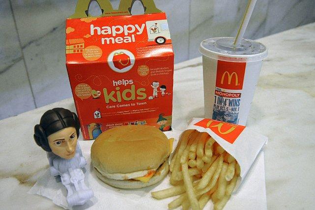 Un menu pour enfants chez McDonald's... (Photo: AFP)