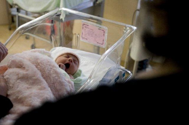Hôpital général Juif: baisse du taux de césarienne (Photo: François Roy, archives La Presse)