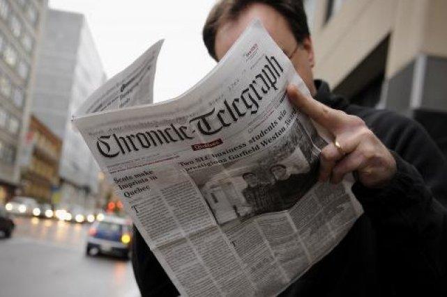 Bien que les conditions d'utilisation du Chronicle Telegraph... (Le Soleil, Patrice Laroche)