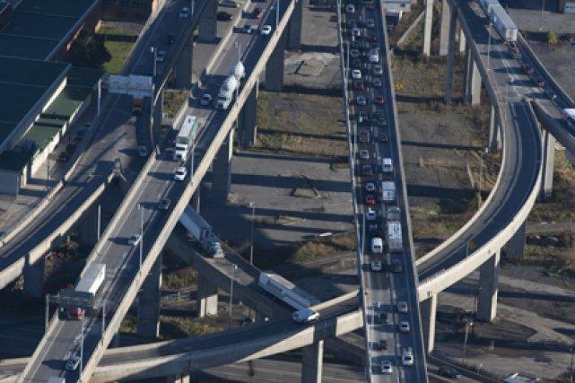 L'échangeur Turcot est le carrefour autoroutier le plus... (Photo: Ivanoh Demers, La Presse)