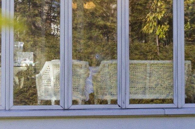 La balle du tueur a traversé une des... (Photo: Patrick Sanfaçon, La Presse)