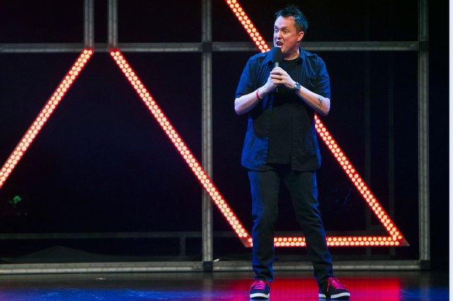 L'humoriste Mike Ward a tiré tous azimuts hier... (Photo: Edouard Plante-Fréchette, collaboration spéciale La Presse)