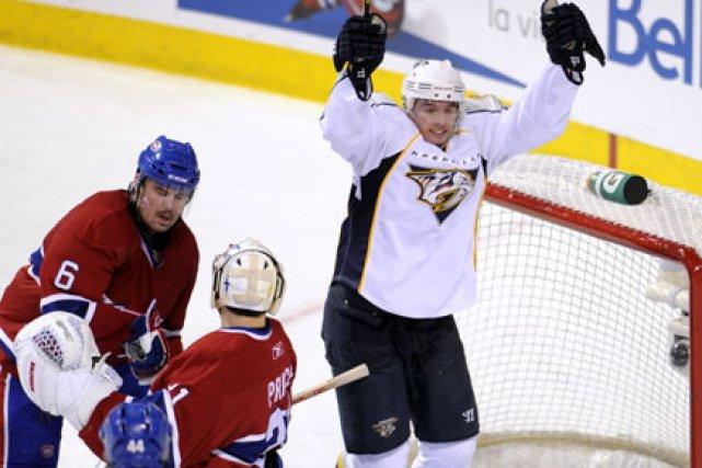 Cal O'Reilly s'est glissé derrière la défense du... (Photo: Bernard Brault, La Presse)