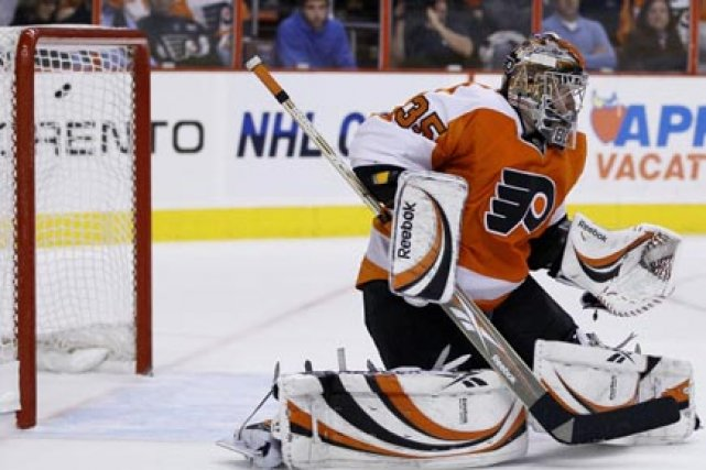 Le gardien des Flyers Sergei Bobrovsky gagne 900000$... (Photo: AP)