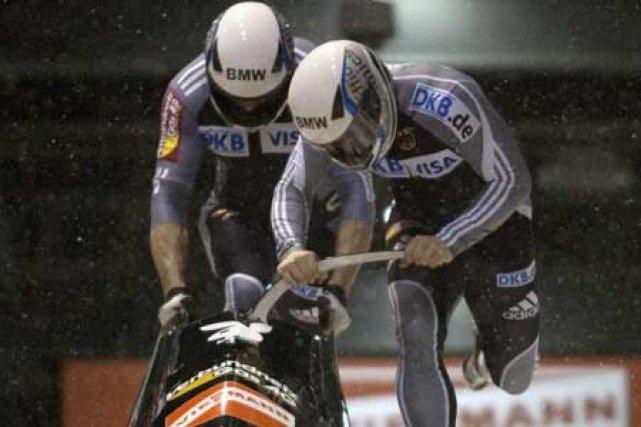 Les Allemands Andreas Bredau et Manuel Machata.... (Photo: Reuters)
