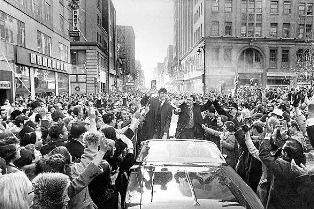 Le lundi 30 novembre 1970, plus de 200000... (Photo: archives La Presse)