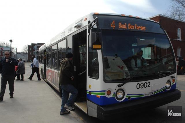 La Société de transport de Trois-Rivières (STTR) vient... (Photo: Ève Guillemette)