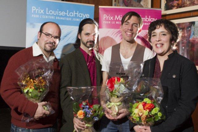 De gauche à droite : les récipiendaires du... (Photo: André Pichette, La Presse)