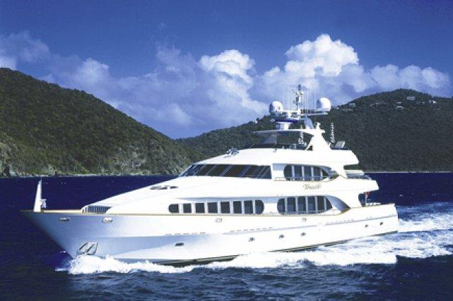 Le yacht Touch, à bord duquel se sont prélassées des personnalités du monde...