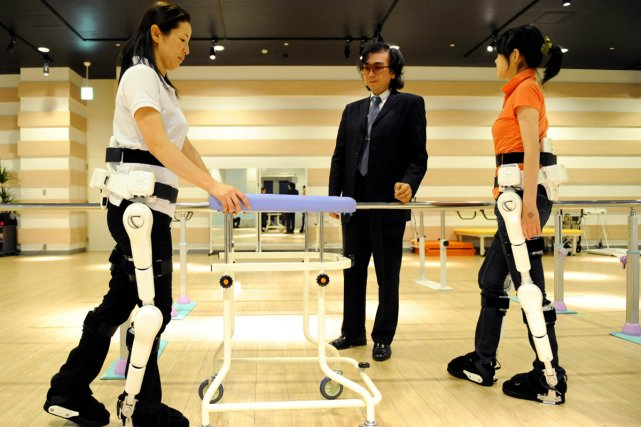 hybrid assistive limb Cyberdyne's hybrid assistive limb is a robotic device that helps people with lower limb disabilities walk on their own.