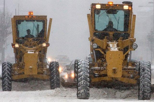 La tempête qui a paralysé une partie des États-Unis a traversé la  frontière... (Photo: Patrick Sanfaçon, archives La Presse)