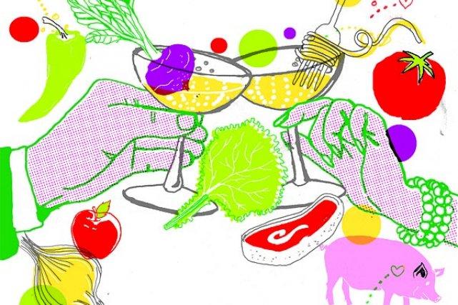Pour clore 2010 en beauté, le cahier Gourmand vous propose aujourd'hui un bilan... (Illustration: Francis Léveillée, La Presse)