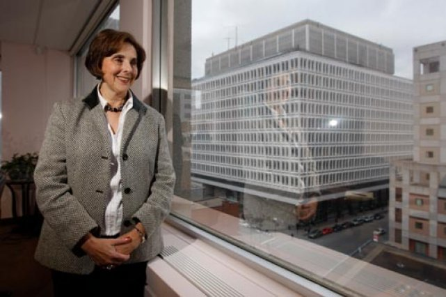 Le départ de la dernière rectrice, Judith Woodsworth,... (Photo: Martin Chamberland, La Presse)
