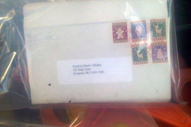 Une lettre piégée dans un bureau de poste de washington États unis