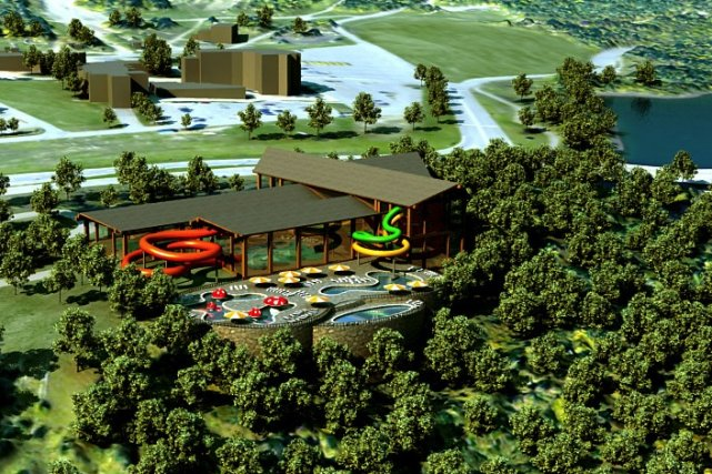 Parc aquatique int rieur beaupr attend le financement de for Hotel parc aquatique interieur quebec