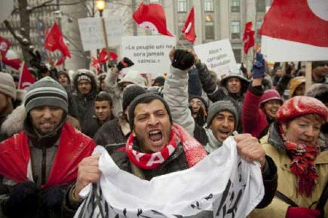 À Montréal, les manifestants ont marché, au son... (Photo: David Boily, La Presse)