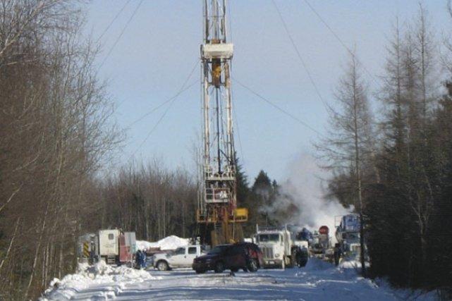 La fuite au puits de Leclercville n'a toujours... (photo fournie par le Comité de vigilance sur les gaz de schiste)