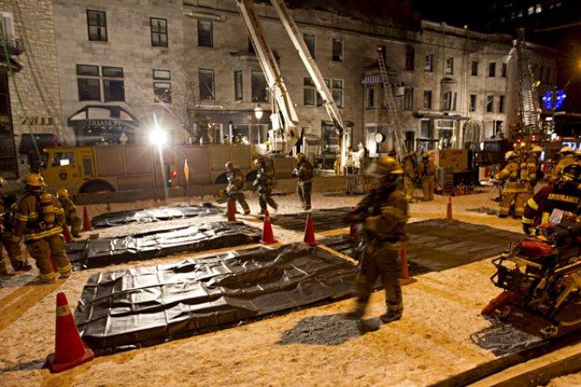L'incendie s'est déclaré vers 17h30 au  troisième... (Photo François Roy, La Presse)