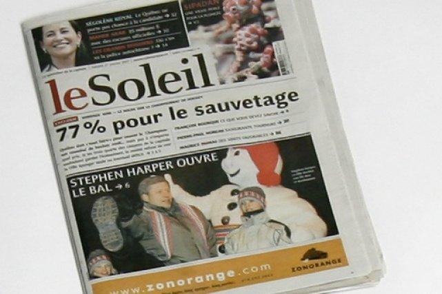 Le quotidien de Québec, Le Soleil.... (PHOTO: ARCHIVES LA PRESSE)
