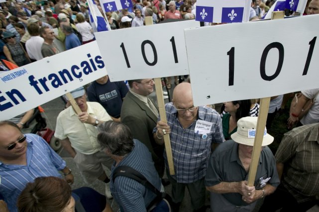 La loi 101 a totalement transformé la société... (PHOTO: DAVID BOILY, ARCHIVES LA PRESSE)