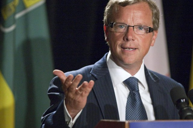 Le premier ministre de la Saskatchewan, Brad Wall,... (PHOTO: TROY FLEECE, ARCHIVES PC)
