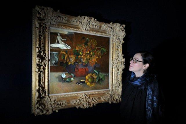 Le tableau de Gauguin Nature morte à l'Espérance.... (Photo: AFP)
