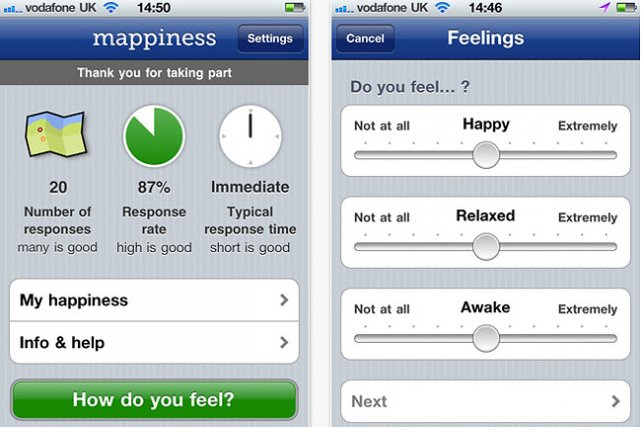 Une appli iphone pour mesurer le bonheur ailleurs sur le web - Application pour mesurer une piece ...