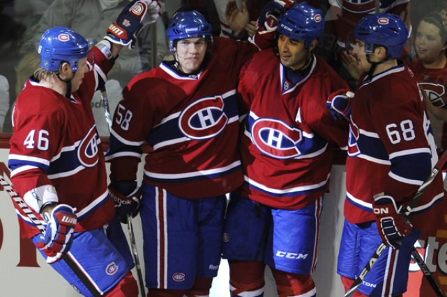 Le but de David Desharnais des Canadiens face... (Photo Bernard Brault, La Presse)