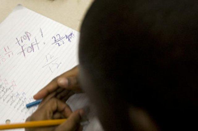 Un peu plus des deux tiers des élèves... (Photo: Ivanoh Demers, Archives La Presse)