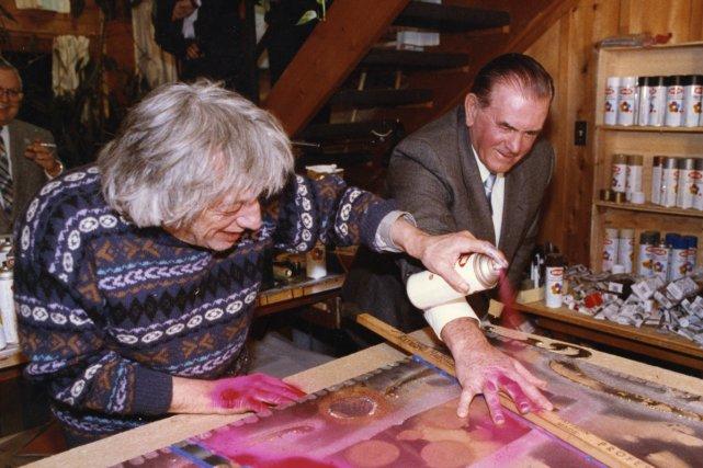 Jean-Paul Riopelle a rendu hommage à Maurice Richard... (Photo: Archives La Presse)