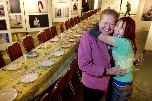 La table est mise. Chloé Sainte-Marie et Jean-Paul... (Photo: Robert Skinner, La Presse)