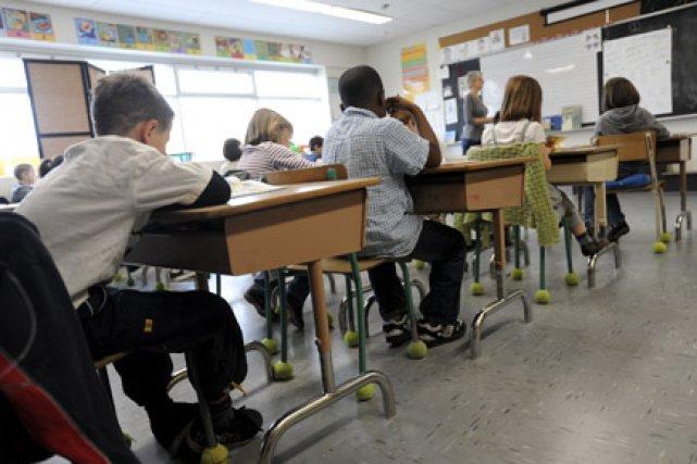 Selon les données 2007-2008, 20% des élèves du... (Photo: Le Soleil)