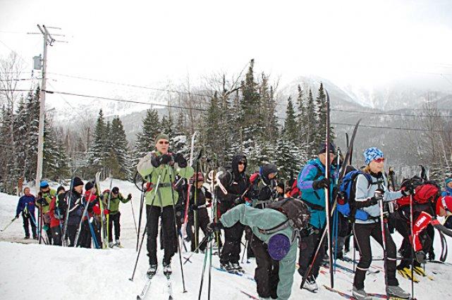 Les skieurs de la Traversée de la Gaspésie... (Collaboration spéciale Johanne Fournier)