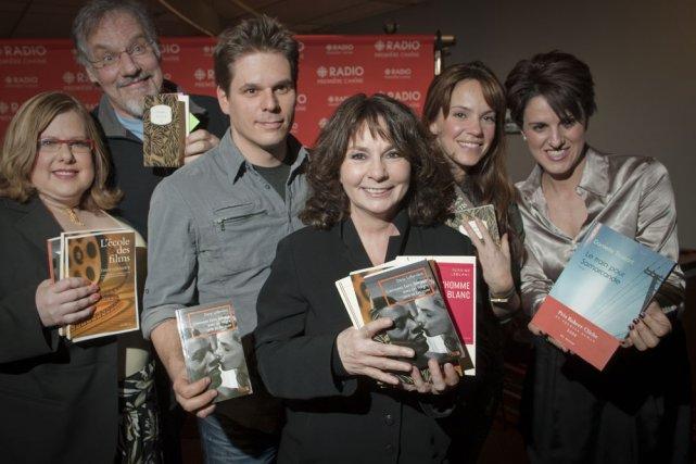 Les concurrents du 8e Combat des livres animé... (Photo: André Pichette, La Presse)