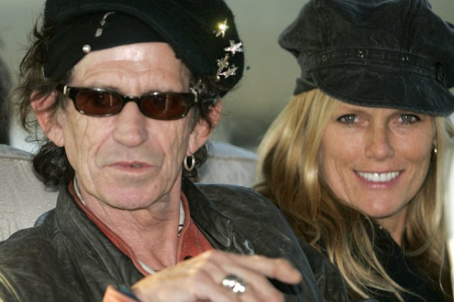 Keith Richards en compagnie de sa fille Theodora.... (Photo: Liu Jin, Archives AFP)