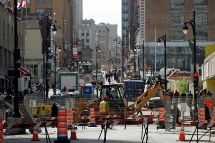Des entrepreneurs en construction semblent s'être partagé le territoire de... (Photo: Martin Chamberland, archives La Presse)