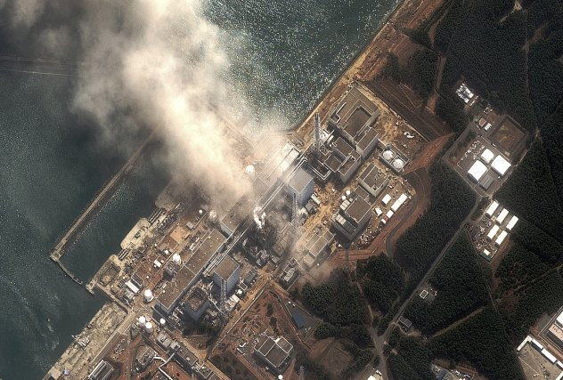 Les accidents à la centrale Fukushima (regroupant six... (PHOTO: DIGITALGLOBE, AFP)