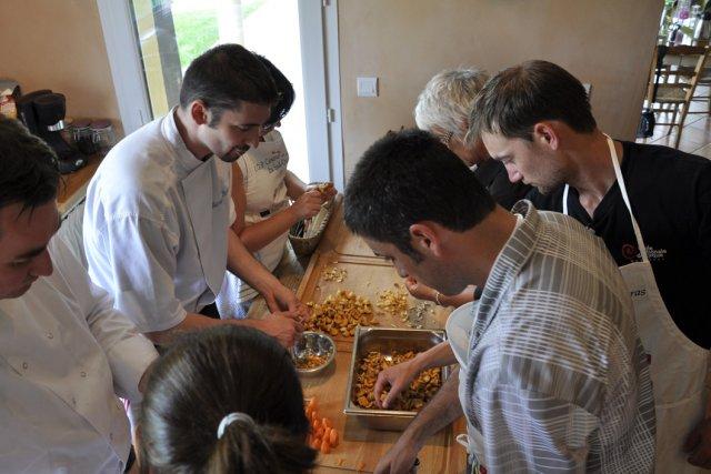 Cuisiner avec un chef toil st phanie morin france - Cours de cuisine avec un chef etoile paris ...