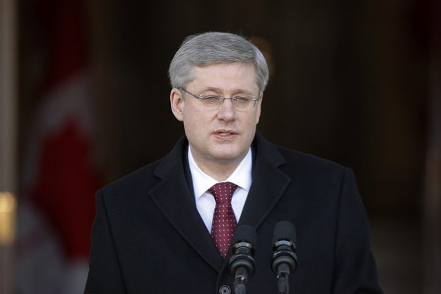 Le chef du parti conservateur, Stephen Harper.... (Photo: PC)