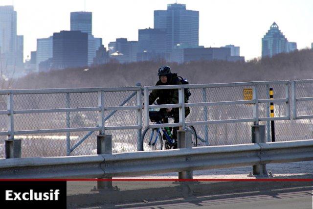 La piste réaménagée du pont Jacques-Cartier a été... (Photo: François Roy, La Presse)