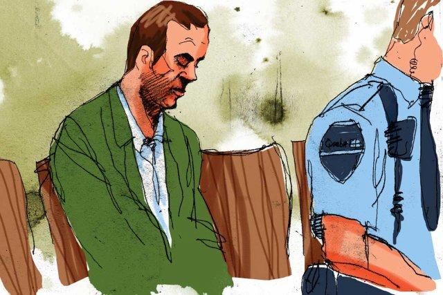Guy Turcotte au palais de justice de Saint-Jérôme.... (Illustration: André Rivest, La Presse)