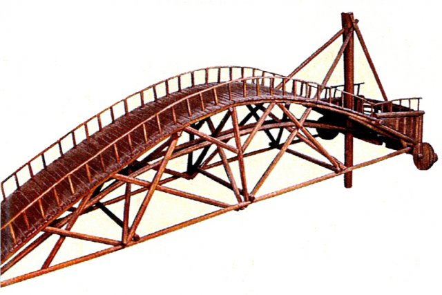 L 39 art de l onard de vinci expos montr al ric cl ment - Pont leonard de vinci ...