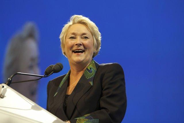 Pauline Marois, qui a prononcé hier le discours... (Photo: Olivier PontBriand, collaboration spéciale)