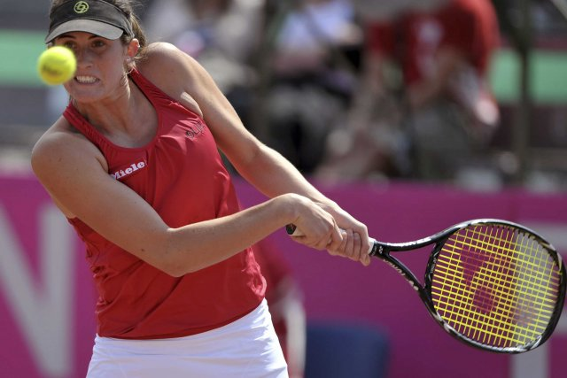 Rebecca Marino (61e mondiale) s'est d'abord inclinée de... (Photo: Reuters)
