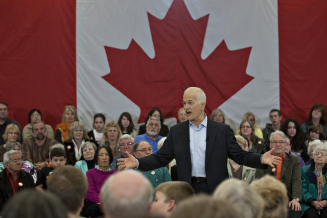 Jack Layton a prononcé une allocution à Thunder... (Photo: PC)