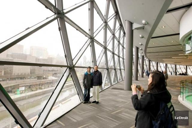 Vue intérieure du Centre des congrès d'Ottawa... (Photothèque Le Droit)