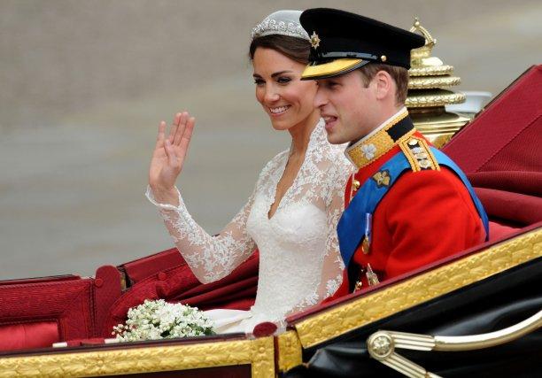 Le prince William et sa femme Kate Middleton... (Photo AFP)