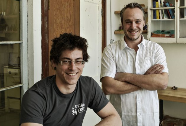 Les deux associés Éloi Ménard et Francis Rollin... (Photo: Bernard Brault, La Presse)